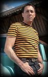 Striped Shirt - mustard/ black