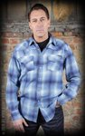 Flannel Shadow Plaid Shirt blue
