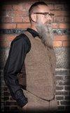 Vintage Vest Atlantic City - Herringbone beige/brown_