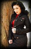 Ladies Denim Jacket - black