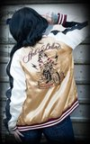 Souvenir Jacket | 2-in-1 Satin Bomber Jacket Hell's Belles_