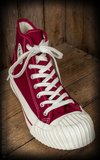 Burn out Sneakers Bordeaux Rood_