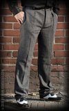 Vintage Slim Fit Pants Pasadena - Herringbone grey/black_