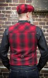 Vintage Vest Boston - plaid red/black_