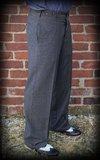 Vintage Loose Fit Pants New Jersey - grey/black_