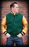 Baseball Jacket - green/mustard_