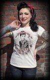 Ladies T-Shirt Tattoed at Tiffany's - offwhite_