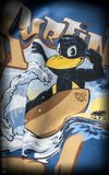 T-Shirt Surfin' Bird - blau_