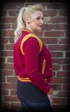 Ladies Sweat College Jacket - bordeaux/mustard_