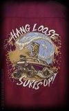 Bowling Shirt Hang loose, Surf's up - bordeaux_