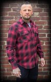 Shadow Plaid Shirt, red/black_