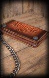 "Leather Wallet ""sunburst"" handmade_"