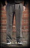Vintage Slim Fit Pants Pasadena - Herringbone grey/black_