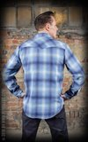 Flannel Shadow Plaid Shirt blue_