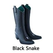 Black snake festival gummi stiefel