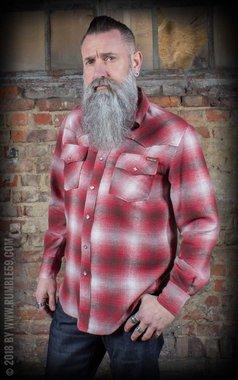 Flannel Shadow Plaid Shirt red