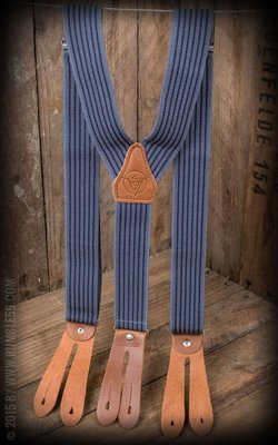 Suspenders Colour combination blue