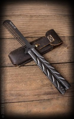 Butterfly-Comb with Leather Case