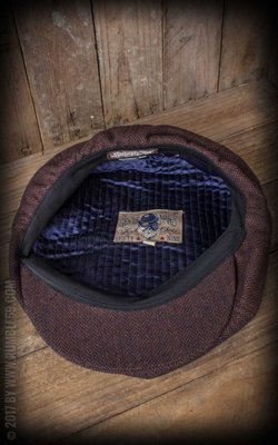 Slugger Cap - Herringbone brown/blue