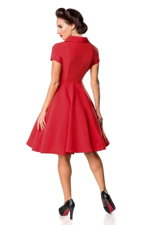 Retro jurk Lady in Red & Black