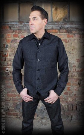 Vintage Vest Philadelphia - black