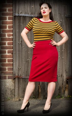 Perfect Pencil Skirt - red