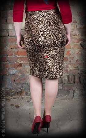Leopard Pencil Skirt The wild one