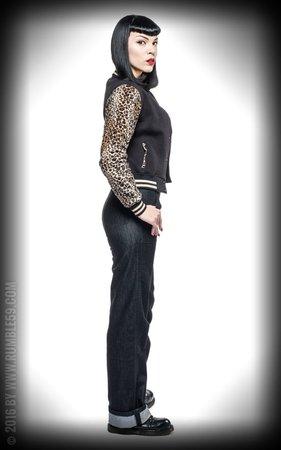 Ladies Sweat College Jacket - Leo Patch