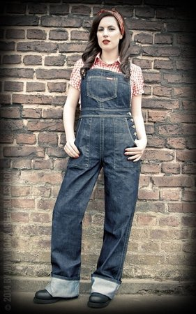 Ladies Denim Dungarees | Playsuit