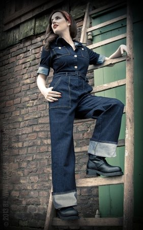 Ladies Denim Overall