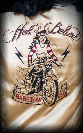 Souvenir Jacket | 2-in-1 Satin Bomber Jacket Hell's Belles