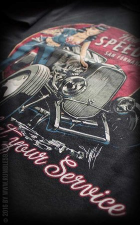 T-Shirt Hotrod Betty's Speed Shop
