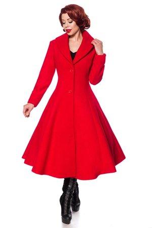 Retro mantel rood