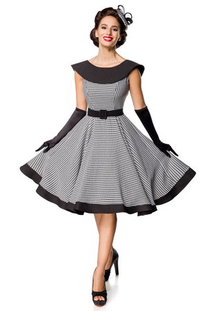 Belsira Houndstooth Swingdress