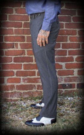 Vintage Slim Fit Pants Providence - grey/black