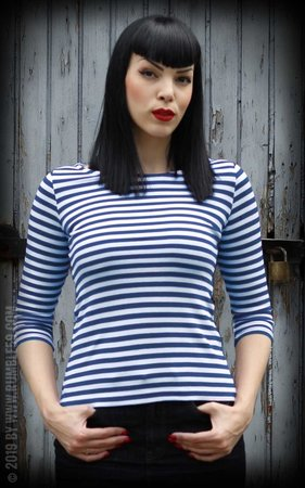 Striped Shirt Let's be Audrey! - blue