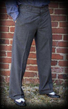 Vintage Loose Fit Pants New Jersey - grey/black