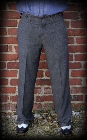 Vintage Loose Fit Pants New Jersey - grey/black