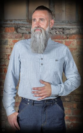 Band collar shirt - Dapper Workman