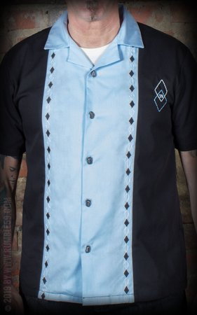 Lounge Shirt Rocking Diamonds - light blue