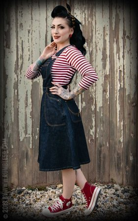 Denim Bib Dress Rocking Rosie