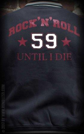 Male Sweat College Jacket - R'n'R until I die