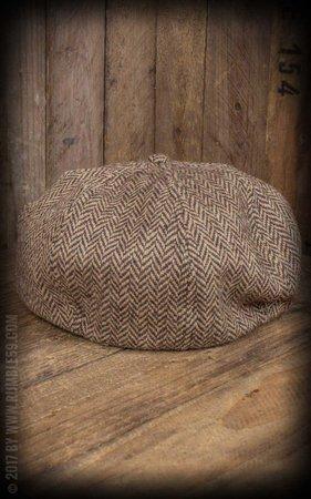 Slugger Cap - Herringbone beige/brown