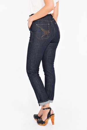 QUEEN KEROSIN SELVEDGE HIGH WAIST JEANS
