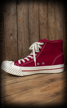 Burn out Sneakers Bordeaux Rood