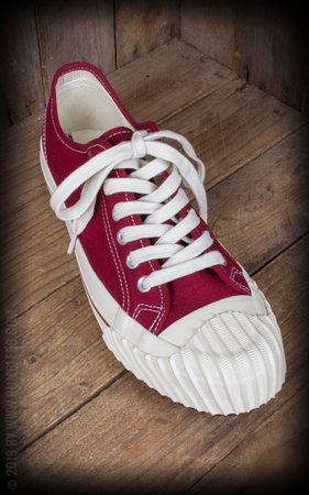 Burnout-Sneaker Lo Top - bordeaux