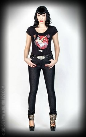 Black Marilyns' Curves - Slim Fit