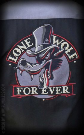 Worker Shirt Lone wolf forever