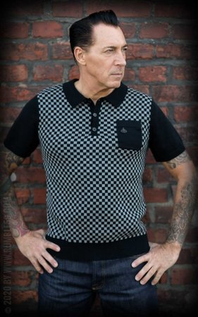 Knitted Polo Shirt Indianapolis grey