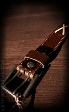 Set Lederen riem Brando bruin+Buckle Rock'n'Roll Until I Die